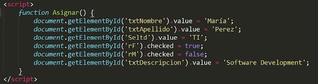 Cargar información a un formulario HTML mediante JavaScript