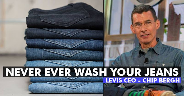 "CEO Of Levi's Says ""NOT TO WASH YOUR JEANS""! Here's Why He Gave This Advice http://www.blog4u.ga/"
