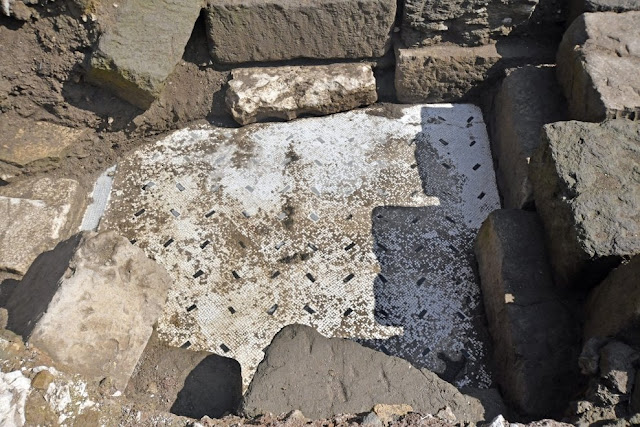 Mosaic floor found under Rome's Horrea Agrippiana