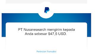 bukti pembayaran nusaresearch