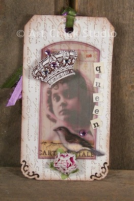 Vintage Queen Altered Art Tag