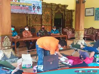 Aksi Bakti Sosial Donor Darah Dalam Rangka TMMD Sengkuyung Tahap I