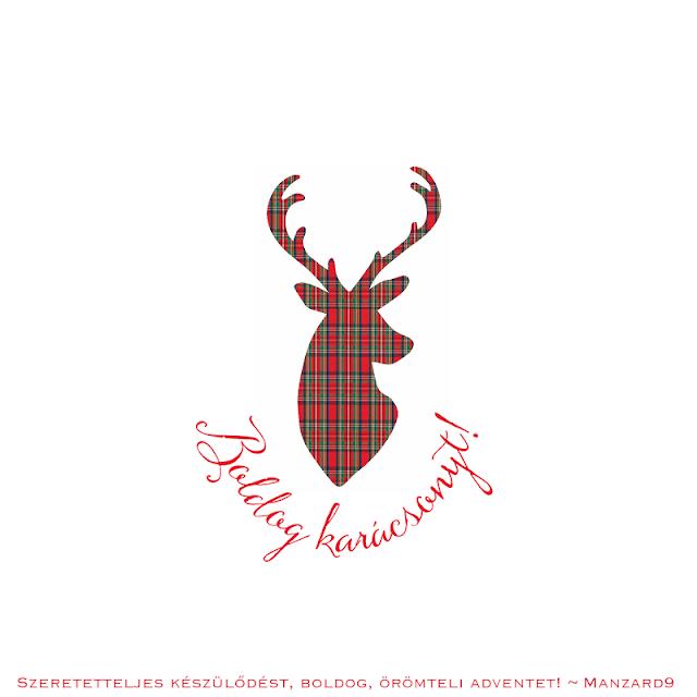 Grafika skót szarvasos - ca. 11x11cm - print I Manzard9