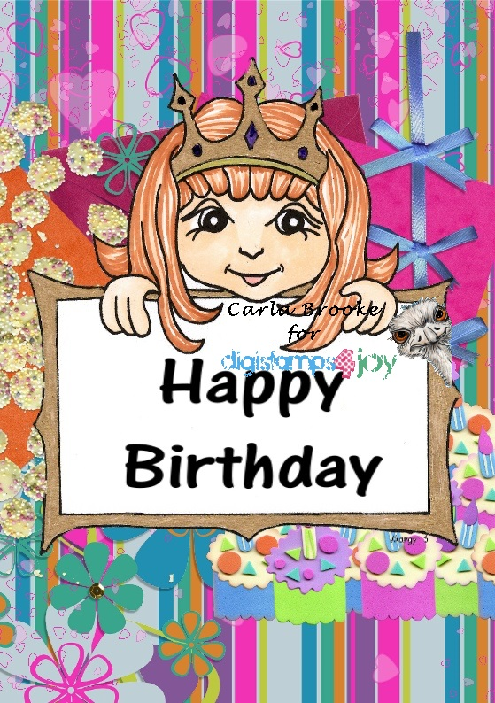 carla s cards happy birthday sign board card
