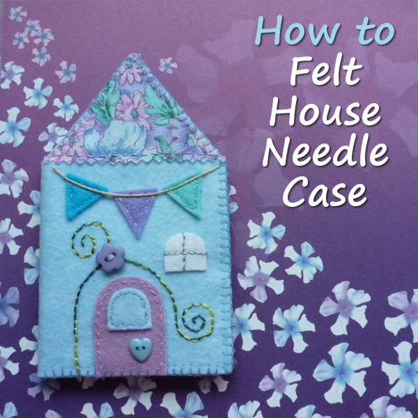 How to make a felt needle case needlebook needles holder easy sewing tutorial needlecase by CraftyMarie