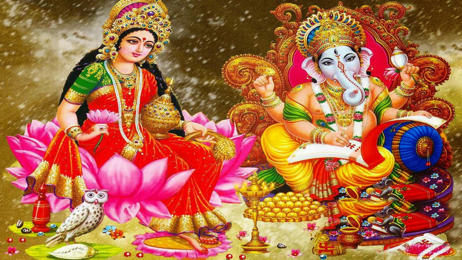 goddess laxmi & lord ganesh image
