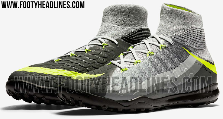 88b6375d2a The Nike HypervenomX Proximo II Heritage pack football boots introduce a  bold look in grey and volt that draws inspiration from an iconic Air Max 95  paint ...