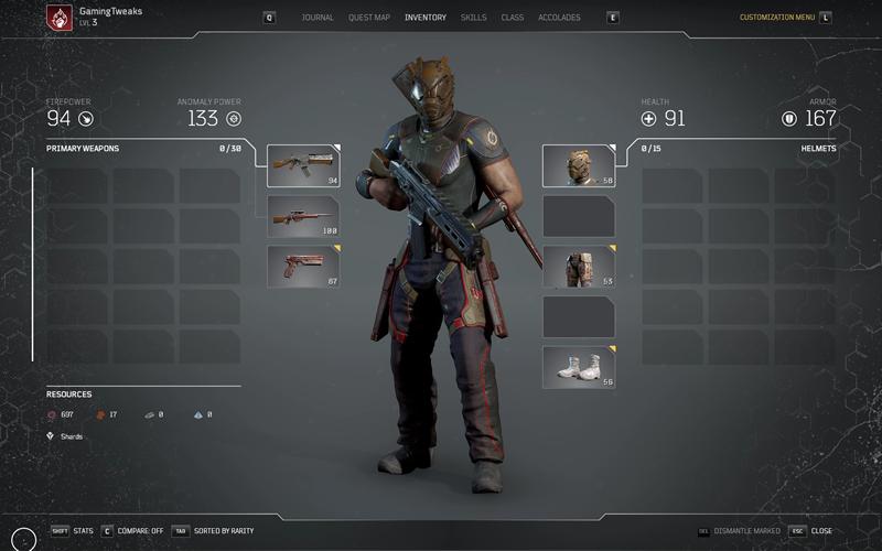 Outriders Inventory Gaming Tweaks 2