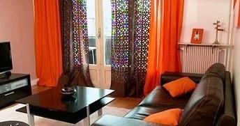 Salas en naranja y marr n chocolate ideas de salas con for Sala de estar marron