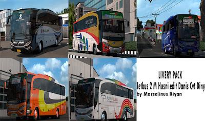 Livery Pack by Marselinus RIyan. untuk Jetbus 2 M Husni edit Danis Cvt Diny