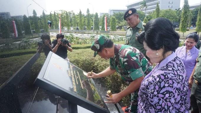 Panglima TNI Resmikan Monumen Patung Jenderal Soedirman Di Cilangkap