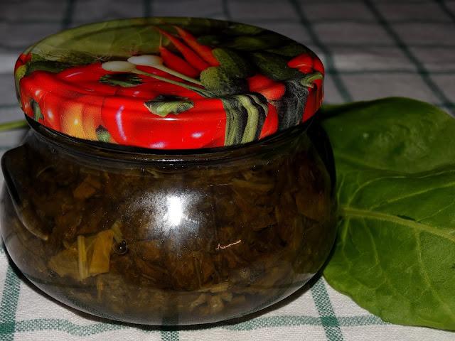 Pasteryzowany szczaw na zimową szczawiówkę