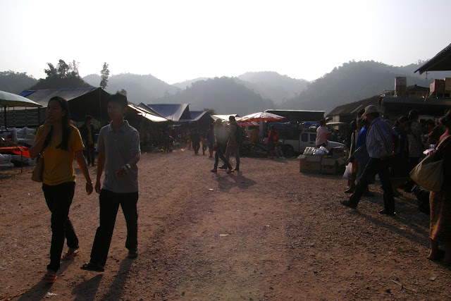 Bo Bia Border market between Thailand and Laos