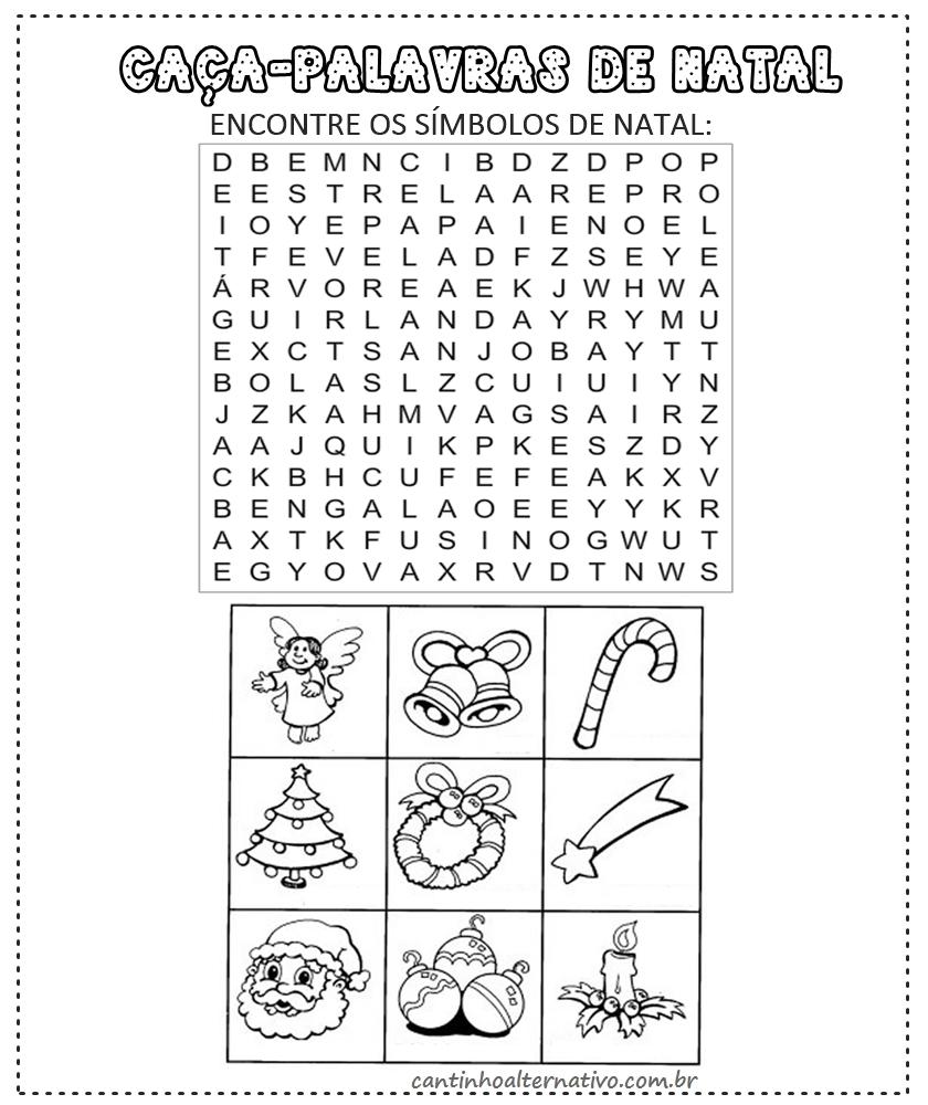 Arte De Ensinar Atividade Infantil Caca Palavras De Natal