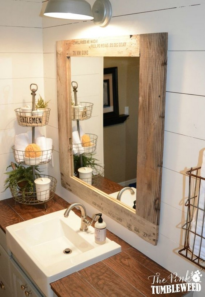 What a great ideas 60 bathroom pallet projects on a for Great bathroom ideas