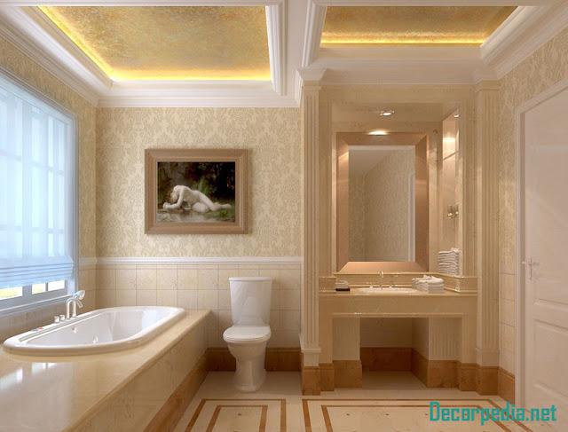 bathroom ceiling designs 2019, pop false ceiling designs for bathroom with lighting ideas