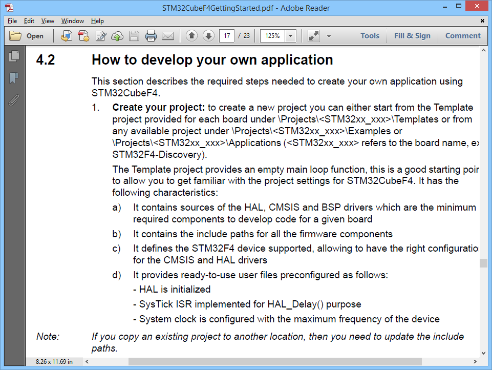 4 2 How to develop your own application | STM32F4 Notes