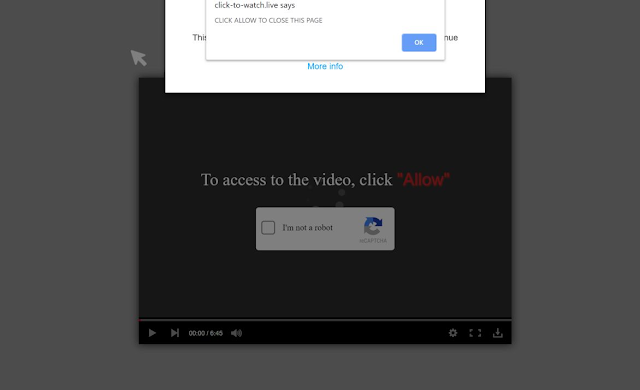 Click-to-watch.live pop-ups