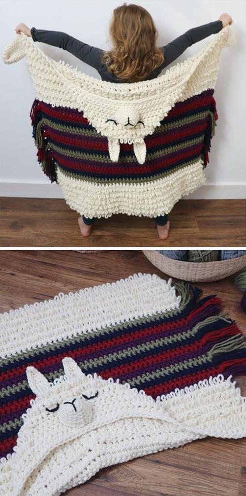 Alpaca my Llama Blanket - Crochet Pattern