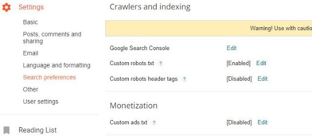 Setting Ads.txt Blogger