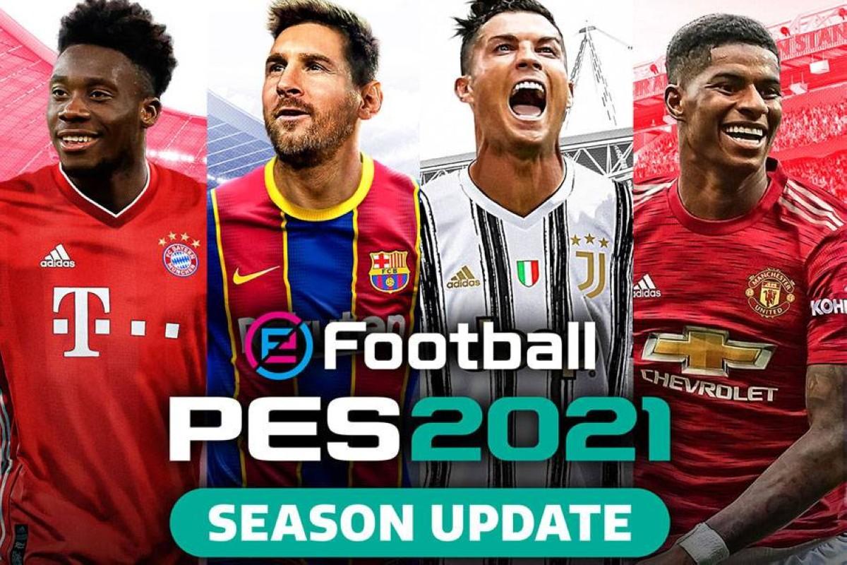 لعبة PES 2021 نسخة كاملة بدون تسطيب شاملة اخر التحديثات مضغوطة بحجم 25 جيجاا