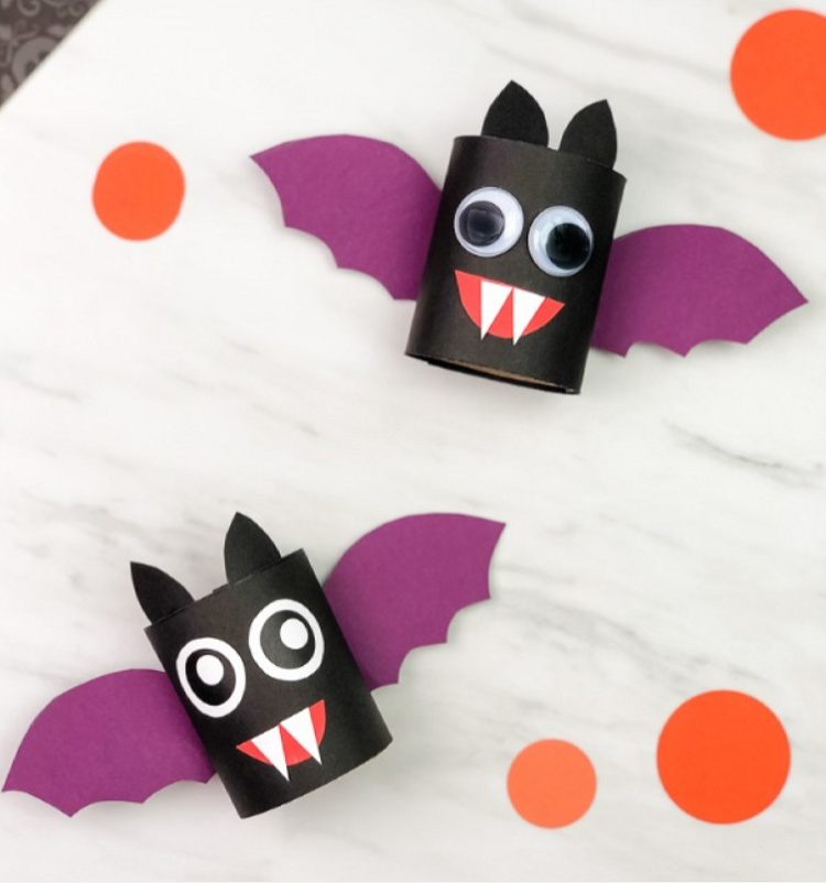 bat craft made from toilet rolls