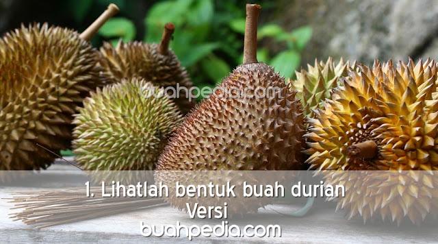 1. Lihatlah bentuk buah durian
