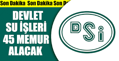 DSİ personel alımı