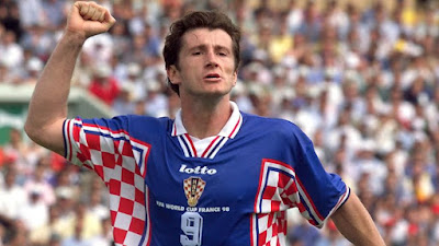 Davor Suker, pemain Kroasia di debut Piala Dunia 1998