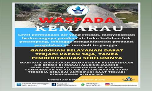 Perumda Air Minun Kota Padang  Himbau Pelangan Setia Bijaklah Dalam Menggunakan Air
