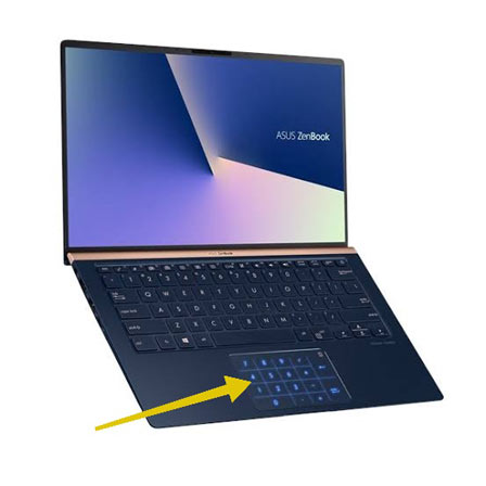 virtual numpad pada laptop asus zenbook baru