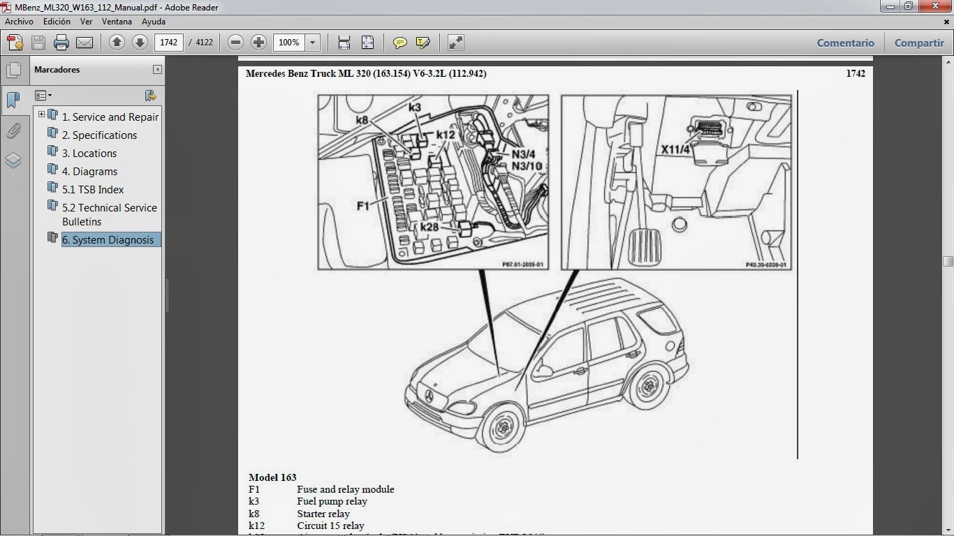 hight resolution of manuales de taller de mercedes benz mercedes c class 2002 fuse box mercedes c class 2002