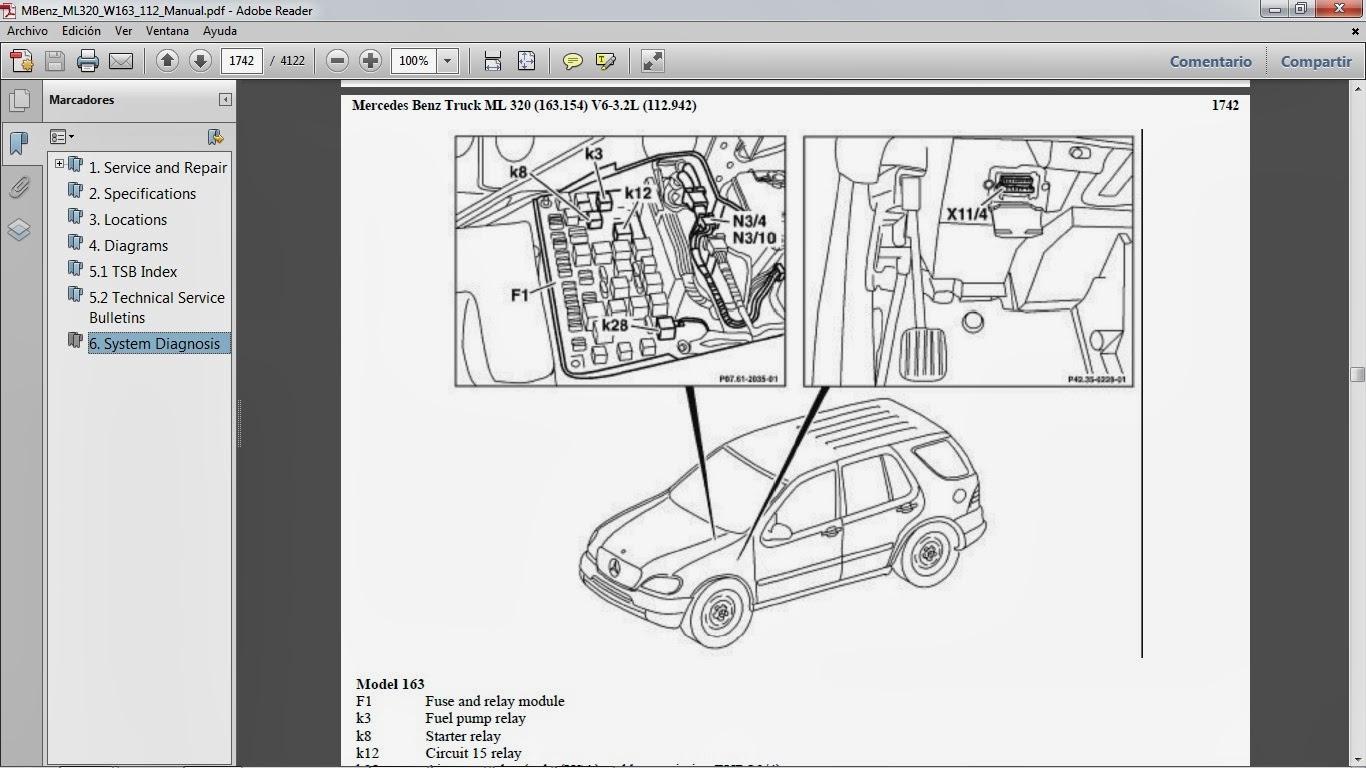 Ml320 Engine Diagram Typical Refinery Process Manuales De Taller Mercedes Benz