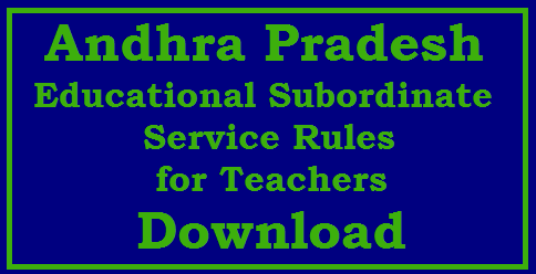 Submit Feedback on AP Teachers Draft Andhra Pradesh Educational Subordinate Service Rules-Download Teachers Service in AP framed | Service Rules drafted in AP Classification of Posts into many categories Method of Appointment and Appointment Authority for various posts By Promotion OR Direct Recruitment Rules of Reservation Qualifications for Recruitment OR Promotion Minimum Service Probation period for Direct Recruitment and Promotions Transfers and Postings complete details Telangana-andhra-pradesh-educational-subordinate-service-rules-teachers-download/2017/09/Telangana-andhra-pradesh-educational-subordinate-service-rules-teachers-download.html