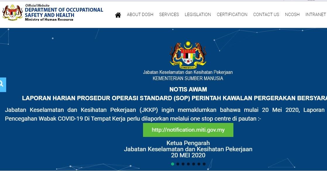 Simiey Dot Info Laporan Harian Program Pencegahan Wabak Covid 19 Di Tempat Kerja Jkkp