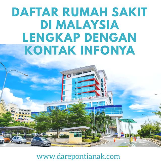 Daftar Rumah Sakit di Malaysia Lengkap dengan Kontak Infonya