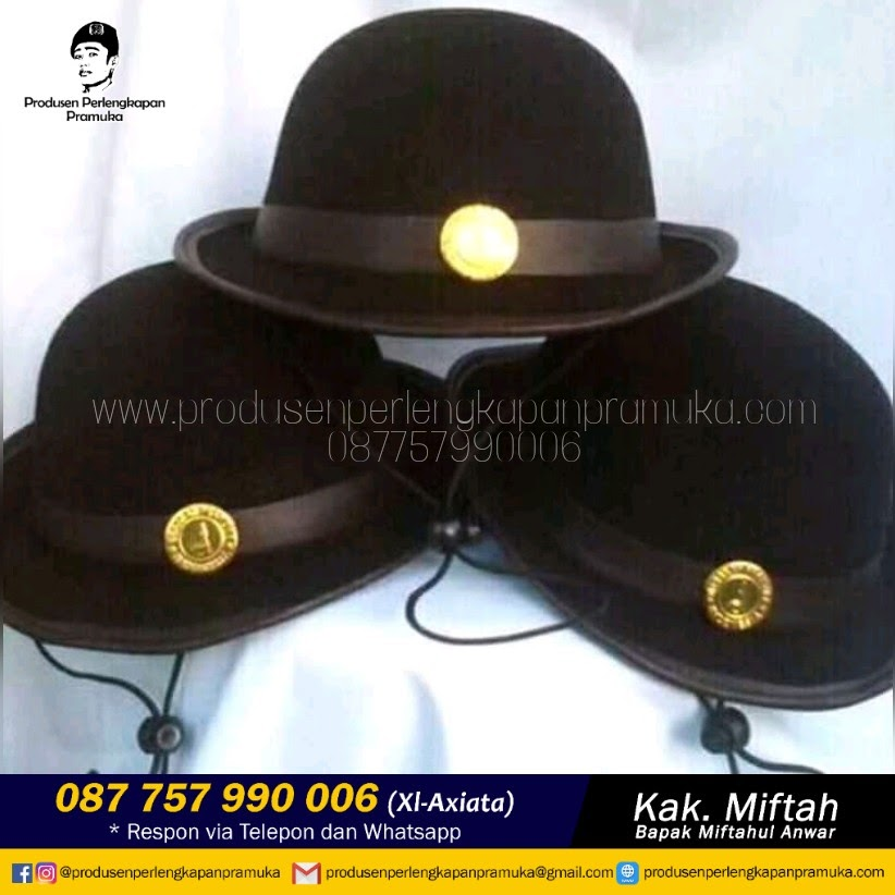 Jual Grosir Topi Boni Rajut Pramuka WA 0877-5799-0006