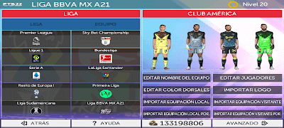 FTS 22 with MESSI in PSG Updated Kits and Leagues