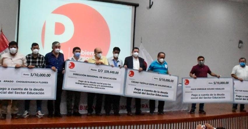 Pagan deuda social a más de 340 trabajadores del sector educación en la región Piura