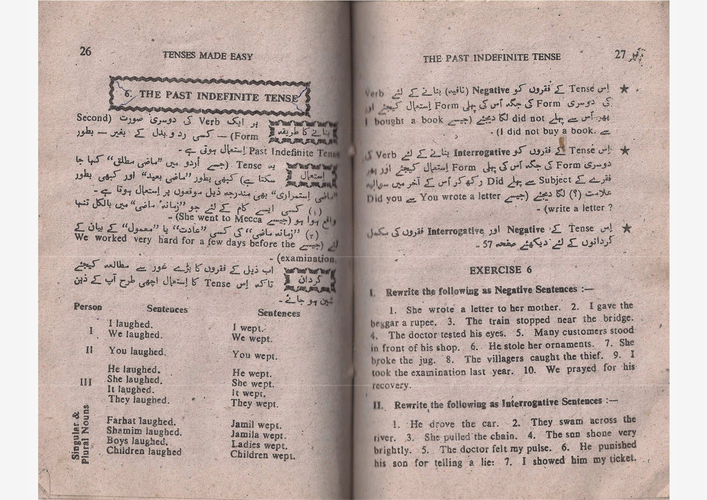 Book in pdf tenses urdu