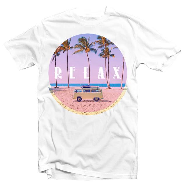 surf beach tshirt design