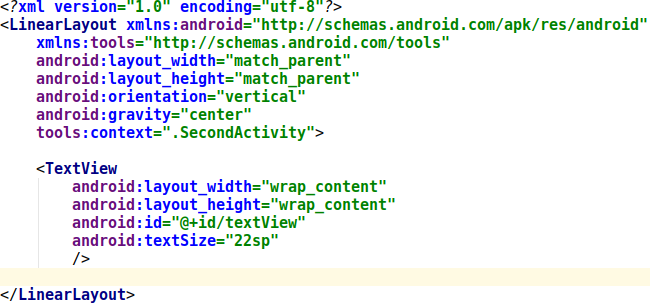android activity xml