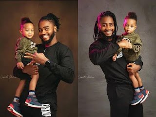 #BBNaija2020: Praise Poses With His Cute Son