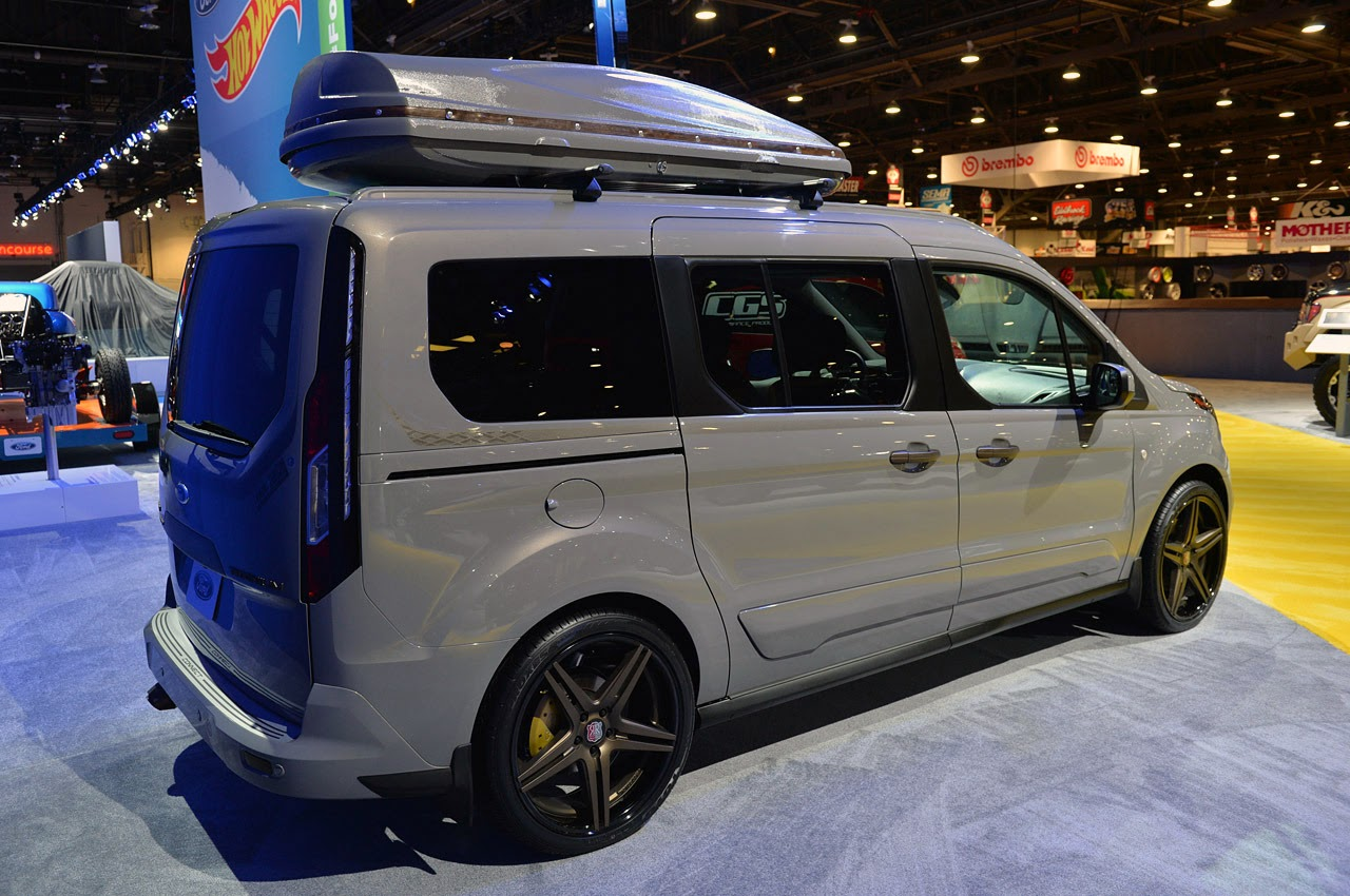 2017 Ford Transit 350 Wagon >> © Automotiveblogz: Ford Transit Connect Customs SEMA 2013 ...