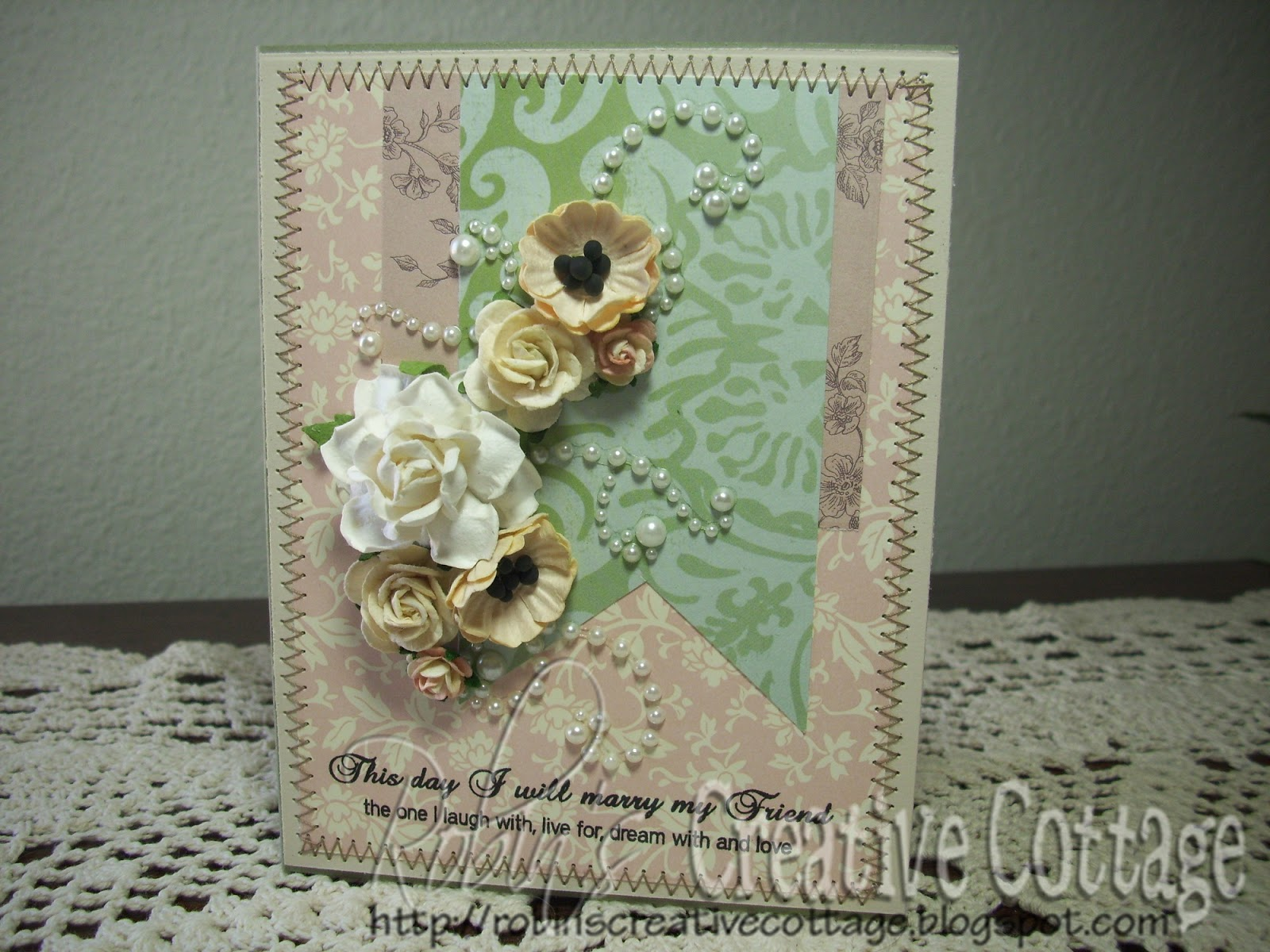 robin's creative cottage beautiful wedding card