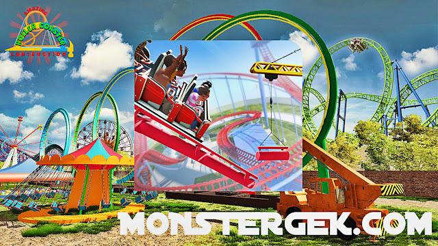 لعبة Roller Coaster Construction SIM v1 2 مهكرة كاملة للاندرويد (اخر