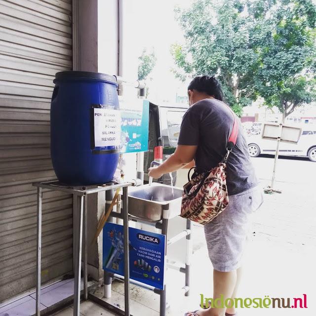 markt handen wassen jakarta bogor kota wisata covid