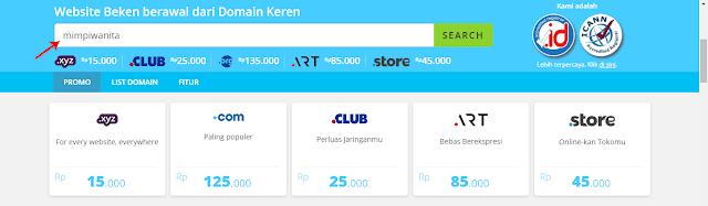 Cari Domain yang Ingin Dibeli di RumahWeb
