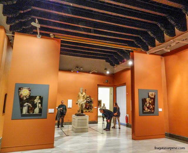 """""""São Jerônimo"""", escultura de Torrigiano, no Museu de Belas Artes de Sevilha"""