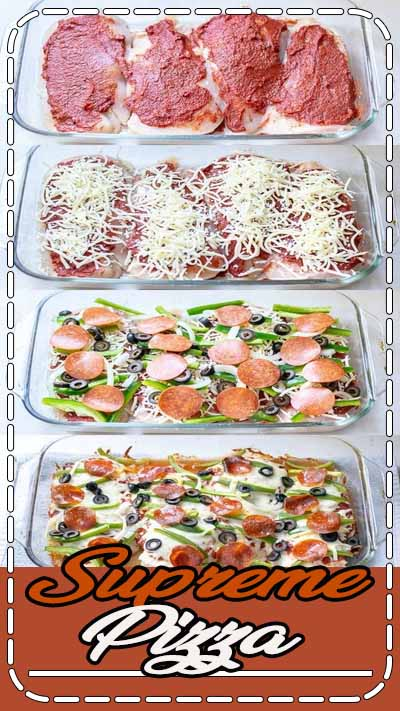 upreme Pizza Chicken Bake Recipe Low Carb | The Schmidty Wife